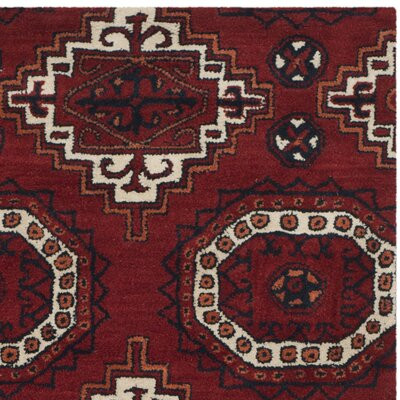 Keegan Red Area Rug Rug Size: Round 7