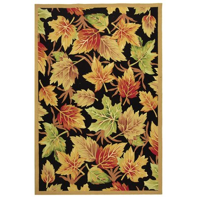 Emiliano Black Windswept Area Rug Rug Size: 18 x 26