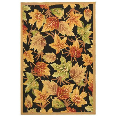 Emiliano Black Windswept Area Rug Rug Size: 89 x 119