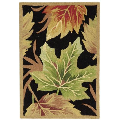 Emiliano Black Windswept Area Rug Rug Size: 6 x 9