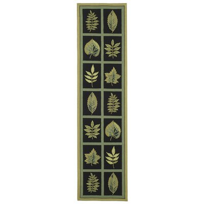 Emiliano Forest Black Novelty Area Rug Rug Size: Runner 26 x 12
