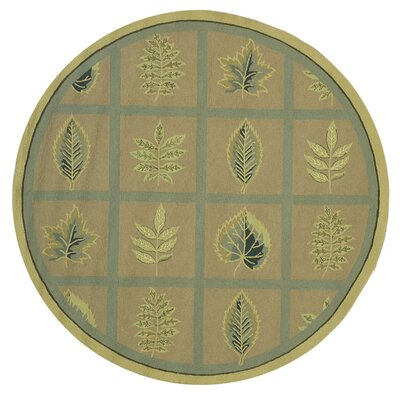 Emiliano Forest Tan Novelty Area Rug Rug Size: Round 8'