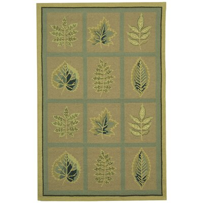 Emiliano Forest Tan Novelty Area Rug Rug Size: Rectangle 89 x 119