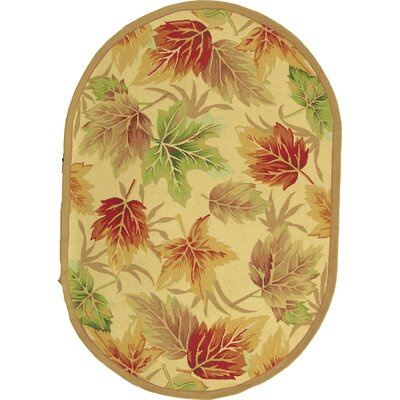 Emiliano Windswept Novelty Area Rug Rug Size: Oval 46 x 66