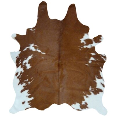 Zenith Natural Cowhide Brown/White Area Rug
