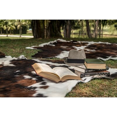 Paladin Hand Woven Cowhide Brown/White Area Rug