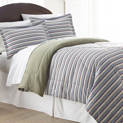 Kintla Stripe Comforter Set Size: King