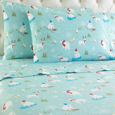 Rocket Fun in the Snow Sheet Set Size: California King