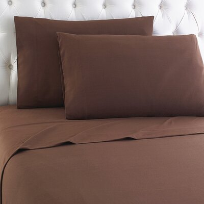 Kintla Flannel Sheet Set Color: Chocolate