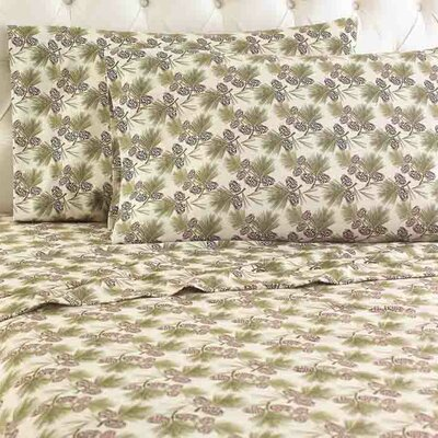 Kintla Flannel Sheet Set Color: Pinecone