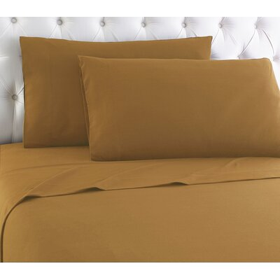 Kintla Flannel Sheet Set Size: Full, Color: Butterscotch
