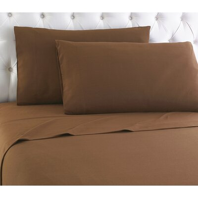 Kintla Flannel Sheet Set Size: Full, Color: Chestnut