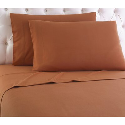 Kintla Solid Sheet Set Size: Twin, Color: Spice