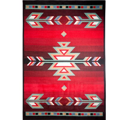Hilander Black Area Rug Rug Size: Rectangle 53 x 75