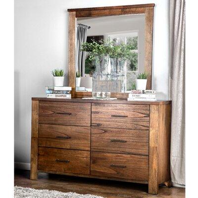 Zena 6 Drawer Dresser with Mirror