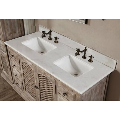 Vice  61 Double Bathroom Vanity Set Top Finish: Quartz White