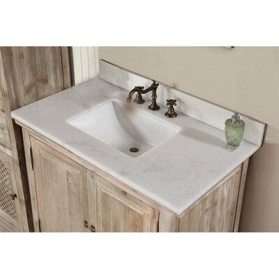Vice 37 Single Bathroom Vanity Set Top Finish: Quartz White