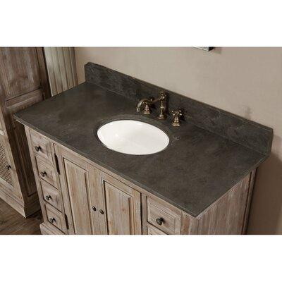 Clemmie 49 Single Bathroom Vanity Set Top Finish: Limestone