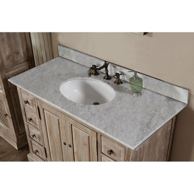 Clemmie 49 Single Bathroom Vanity Set Top Finish: Carrara White