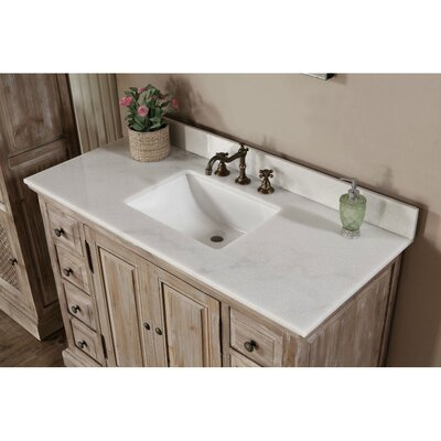 Clemmie 49 Single Bathroom Vanity Set Top Finish: Quartz White