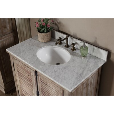 Clemmie 37 Single Bathroom Vanity Set Top Finish: Carrara White