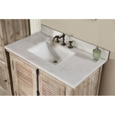 Vice 37 Single Bathroom Vanity Set Top Finish: Quartz White