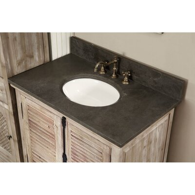 Clemmie 37 Single Bathroom Vanity Set Top Finish: Limestone
