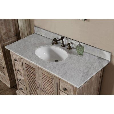 Vice 49 Single Bathroom Vanity Set Top Finish: Carrara White