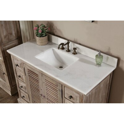 Vice 49 Single Bathroom Vanity Set Top Finish: Quartz White
