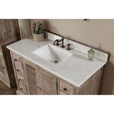 Clemmie 49 Single Bathroom Vanity Set Top Finish: Quartz White