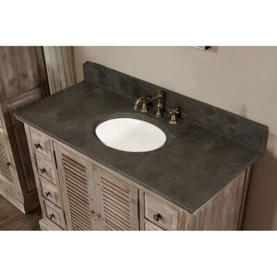 Clemmie 49 Single Bathroom Vanity Set Top Finish: Limestone