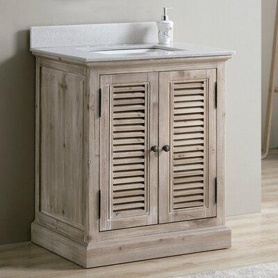 Charleen 30 Single Bathroom Vanity Top Top Finish: White