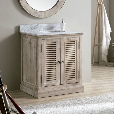 Charleen 30 Single Bathroom Vanity Top Top Finish: White Marble
