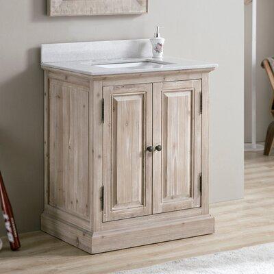 Tifton 30 Single Bathroom Vanity Set Top Finish: White