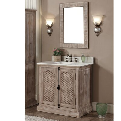 Clemmie 37 Single Bathroom Vanity Set Finish: Quartz White