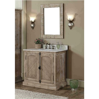 Clemmie 37 Single Bathroom Vanity Set Finish: Carrara White