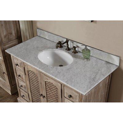 Vice 49 Single Bathroom Vanity Set Top Finish: Carrara White