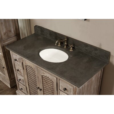 Clemmie 49 Single Bathroom Vanity Set Finish: Limestone