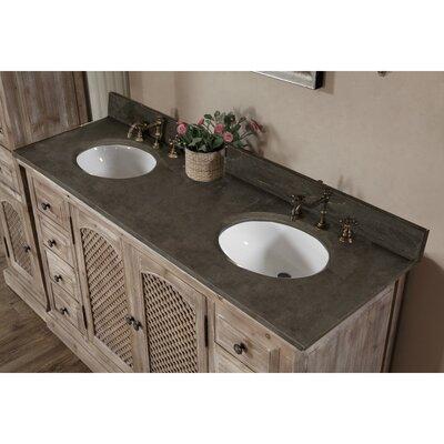 Vice 61 Double Bathroom Vanity Set Finish: Limestone