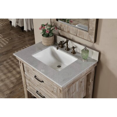 Clemmie 31 Single Bathroom Vanity Set Finish: Quartz White