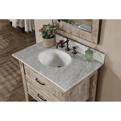 Vice 31 Single Bathroom Vanity Set Finish: Carrara White