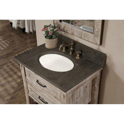 Clemmie 31 Single Bathroom Vanity Set Finish: Matte Ash Grey Limestone