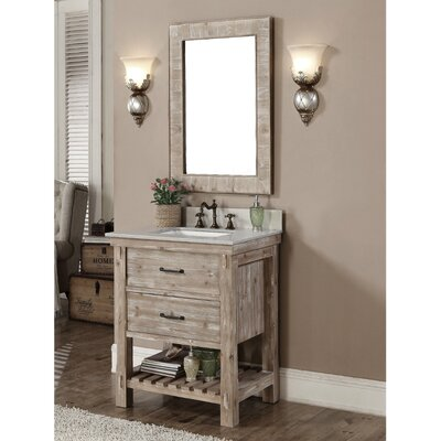 Clemmie 31 Single Bathroom Vanity Set Finish: Carrara White