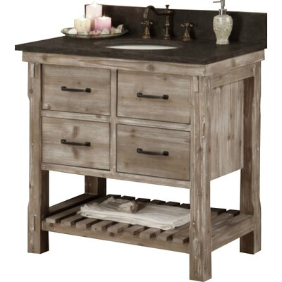 Clemmie 37 Single Bathroom Vanity Set Finish: Limestone