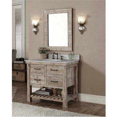 Vice 37 Single Bathroom Vanity Set Finish: Quartz White