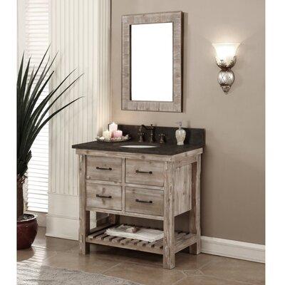 Clemmie 37 Single Bathroom Vanity Set Finish: Limestone