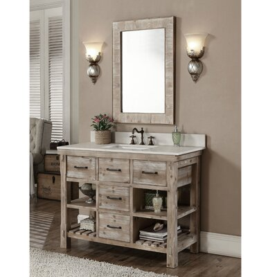 Clemmie 49 Single Bathroom Vanity Set Finish: Quartz White
