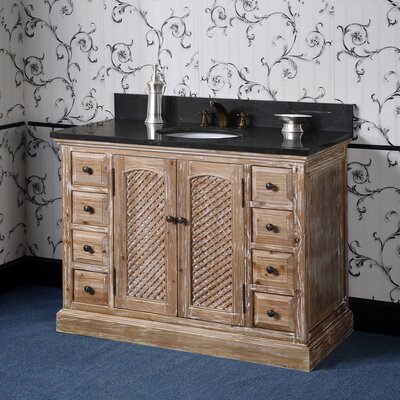 Vice 49 Single Bathroom Vanity Set Top Finish: Limestone
