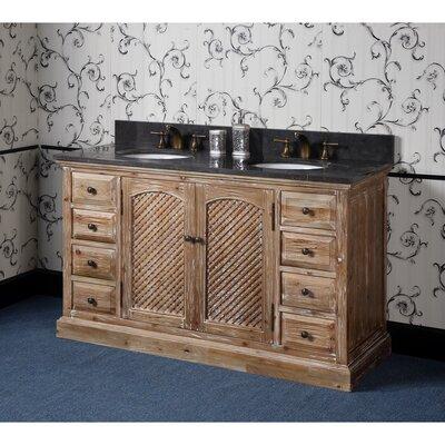 Vice 61 Double Bathroom Vanity Set Top Finish: Limestone