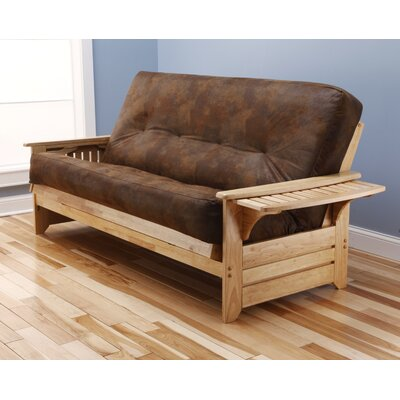 Sheldon Futon and Mattress Frame Finish: Natural, Mattress Color: Dark Tobacco